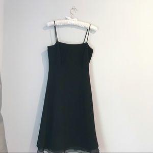 Ann Taylor Basic Black Dress A-line Size 0